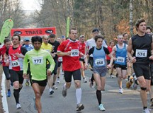 Courtesy photo  Participants of the 2012 half marathon run through the Kaiserslautern forests.