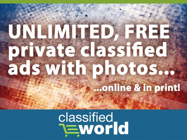 Unlimited, Free private classified ads – 24/7!