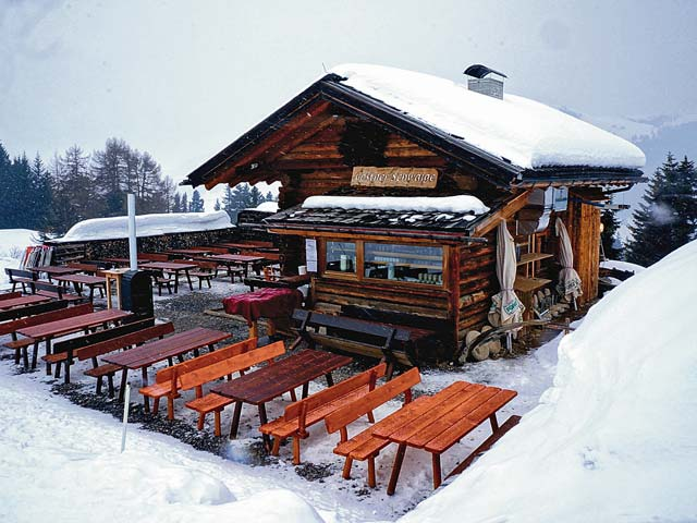 Mountain huts like the Gostner Schwaige offer the best dining.