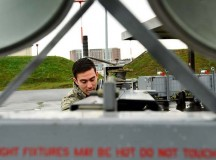 Airman 1st Class Jonathan Penata, 86th Maintenance Squadron Aerospace Ground Equipment technician, returns a  generator to its storage area Oct. 10 on Ramstein. The 86th AGE flight maintains all ground equipment for any aircraft coming through Ramstein.