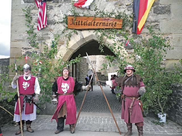 Courtesy photoGuards grant admission to the medieval market at Lichtenberg Castle near Kusel Saturday and Sunday.