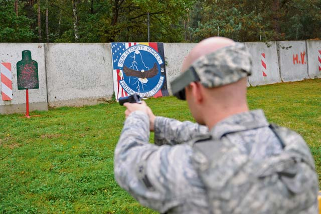 "The 86th Security Forces Squadron conducted ""Shoot, Move, Communicate"" training Oct. 10 on Ramstein. The training is applicable to any high-risk situation, including but not limited to hostage scenarios and fire fights."