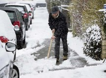 Courtesy photoOff-base residents must sweep the snow off their sidewalk.