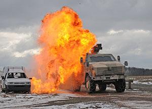 Baumholder medics, German troops train for roadside bombs