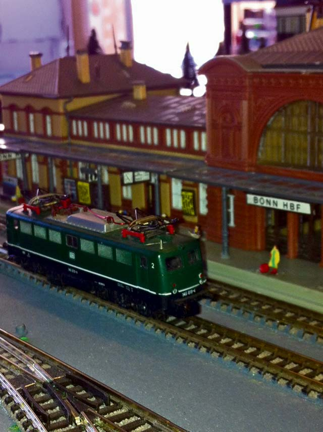 Courtesy photo The model train swap met in Ramstein-Miesenbach displays various model train set-ups, accessories, dolls and miniature cars Sunday.