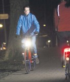 Courtesy photo Bicyclists riding at night should ensure they have the properly installed lights.