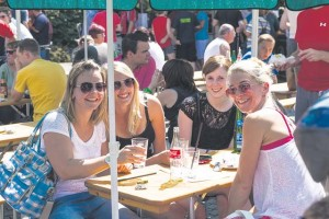 Courtesy photo Participants of the car-free event can take breaks at several eating and drinking locations along the route Sunday.