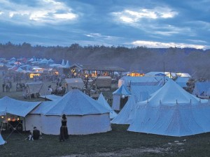 Courtesy photo Camps are set up in the Freisen Natur Wild Park to let the Middle Ages revive Saturday and Sunday.