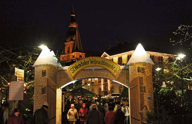 Courtesy photosThe Christmas market in St. Wendel also features a medieval market through Dec. 15.