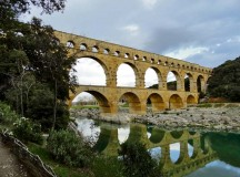 Photos by Meghan Augsburger  The Pont du Gard was listed as a UNESCO World Heritage site in 1985.