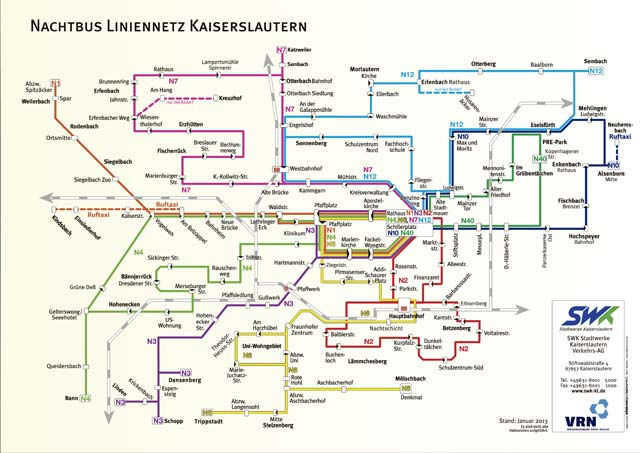 Kaiserslautern night bus gets pengers home safely ... on berlin bus route map, london bus route map, paris bus route map, barcelona bus route map, frankfurt bus route map, bologna bus route map,