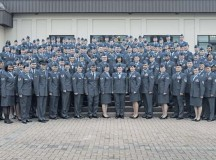 Photo by Senior Airman Jonathan StefankoCommunity College of the Air Force graduates pose for a group photo Nov. 7 on Ramstein. The class consisted of a total of 395 enlisted Air Force members, the largest CCAF graduating class in Ramstein history.