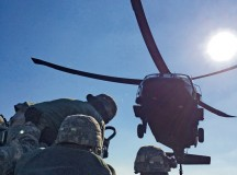 As a part of a multi-echelon deployment to conduct Expert Field Medical Badge training in Vilsek, Germany, Viper Medics from the 421st Medical Battalion (Multifunctional) conduct tactical sling load operations.