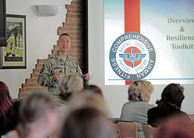 Senior Master Sgt. Joseph Berberich, 86th Medical Group clinical engineering superintendent and lead master resilience trainer, discusses the four pillars of Comprehensive Airman Fitness and how to relate them to resilience.