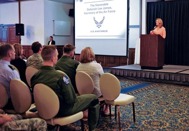 SECAF shares priorities with USAFE-AFAFRICA