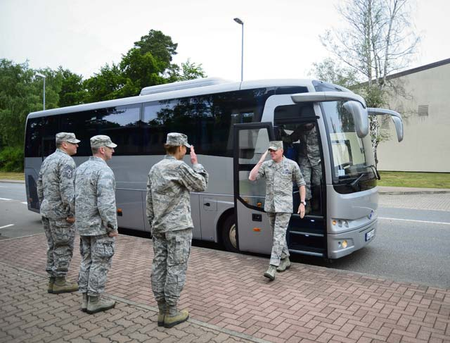 Chief Cody tours Ramstein