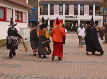 "U.S. Air Force photo Old women and witches storm the ""Rathaus,"" or ""town hall,"" in Ramstein-Miesenbach at 11:11 a.m. on ""Altweiberfasching,"" which literally translates to ""old women's Fasching."""