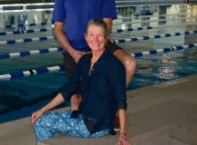 "Elaine and Dennis Edwards add to their annual swim distance total Dec. 29 at the Naval Station Mayport 50-meter pool during their vacation to the Jacksonville, Florida, area. In calendar year 2015, both swimmers swam more than 500 kilometers as part of the Ramstein Aquatics Center ""Swim Challenge."""