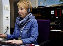 Christel Piscione, 86th Communications Squadron consolidated switchboard operator, answers and connects a call Jan. 4 on Ramstein. Piscione speaks English, German, Italian and a little French, which helps her assist people of different nationalities.