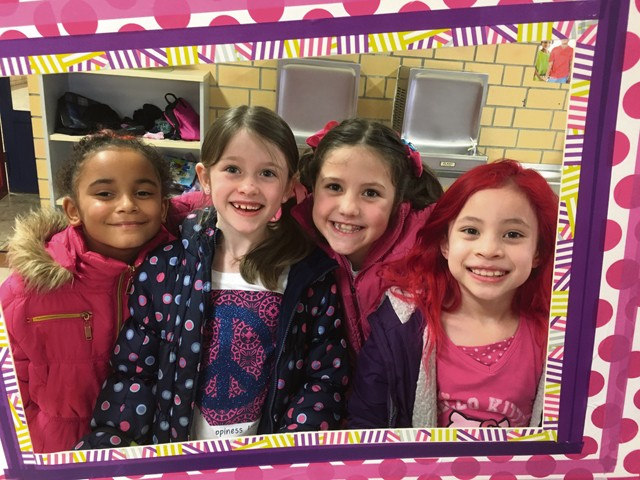 Photo by Nicole Flores  LaShay Hunter (far left), Avery Perusich (middle left), Megan Bell (middle right) and Cadence Bramlett wear pink to unite against bullying.