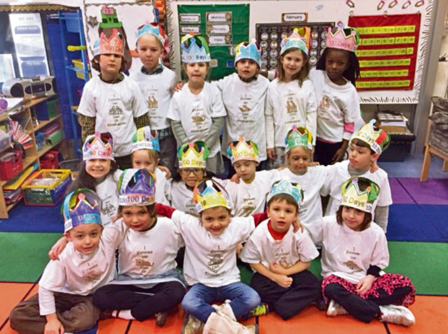 LEMS kindergarteners celebrate 100 days of school
