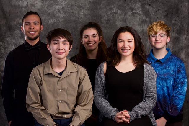 Photo by Guy HrushkaKaiserslautern High School StellarXplorers, from left to right: Nathan Throckmorton, senior; Vincent Povilaitis, junior; Sandra Mako-Sanchez, junior; Rhiannon Jimenez, senior; and Karina Sahli, freshman.