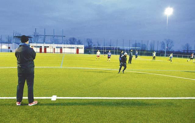 AF soccer team coach trains Army team