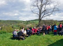 Courtesy photoParticipants of the Wolfstein culinary spring hike can take breaks to enjoy food specialties and scenic views Sunday.
