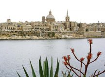 The beautiful skyline of Valletta, the capital of Malta.