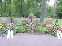Courtesy photo Each year, wreaths are placed at the Kindergraves in Kaiserslautern's cemetery during the annual Kindergraves memorial ceremony.