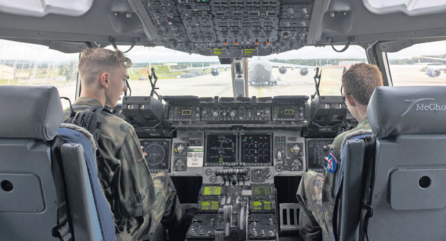 Civil Air Patrol cadets tour Ramstein
