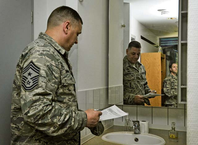 Ramstein enacts first dorm-of-the-quarter inspection