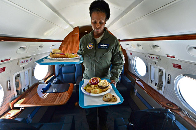 Flight attendants serve our nation's leaders