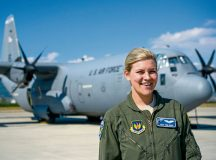 Staff Sgt. Toni Odom, 37th Airlift Squadron loadmaster and Thracian Summer 2016 ramp coordinator, stands in front of a C-130J Super Hercules July 21 at Plovdiv Airport, Bulgaria. Odom was one of two ramp coordinators for Thracian Summer 2016, where she was in charge of 26 personnel for the two-week forward training deployment.