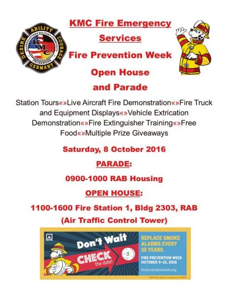 KMC Fire Emergency Services supports Fire Prevention Week 2016