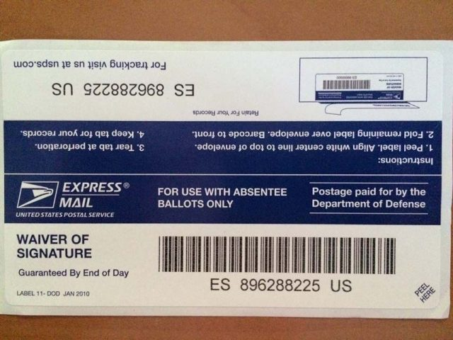 Free priority mail express military service for asbsentee