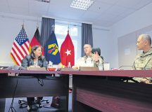 The United States assistant secretary of the Army for Manpower and Reserve Affairs, Debra S. Wada, meets with 7th Mission Support Command and 21st Theater Sustainment Command Soldiers and civilians to give and receive feedback on U.S. Army and Army Reserve programs and policies to understand the Army Reserve's specific role and missions under U.S. Army Europe Sept. 15.