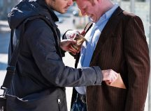 Courtesy photo A pickpocket steals valuables while distracting his victim by spilling coffee over his clothes and then helping to clean it.