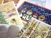 A variety of Christmas cards are available in stores to be mailed out instead of sending electronic holiday greetings.