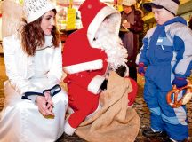 "Photo courtesy of the City of Kaiserslautern Santa Claus comes to pass out goodies to children Dec. 6 at the Christmas market in Kaiserslautern. Germans observe ""Nikolaustag,"" or ""Santa Claus Day,"" every year on Dec. 6."