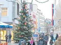 Photo courtesy of the city of Kaiserslautern Christmas trees are the most popular symbols for Christmas in Germany. For the big tree in Kaiserslautern's center, kindergarten children traditionally create the decorations.