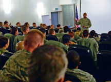 Senior NCOs attend the 86th Medical Group Senior NCO Symposium Jan. 17 on Ramstein. Speakers at the symposium covered topics such as career field functional manager perspectives, ethical leadership, deliberate development and the stratification process.