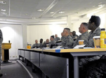 Maj. Gen. Timothy Zadalis, U.S. Air Forces in Europe and Air Forces Africa vice commander, speaks to attendees of a Continuous Process Improvement Senior Leader course Jan. 9 on Ramstein. Zadalis challenged the leaders to allow, encourage and support their Airmen to make the changes their units and the Air Force needs to be a more efficient organization.