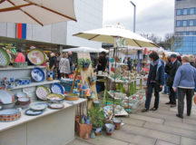 Courtesy photos Visitors of the Homburg Ceramics Market find all kinds of ceramic objects Saturday and Sunday. Additionally, stores are open from 1 to 6 p.m. Sunday.