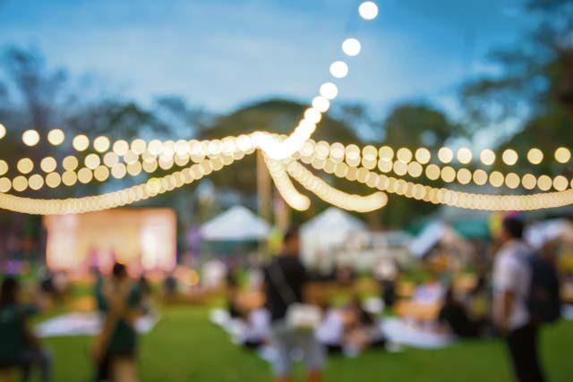 Gartenschau sponsors summer night fest