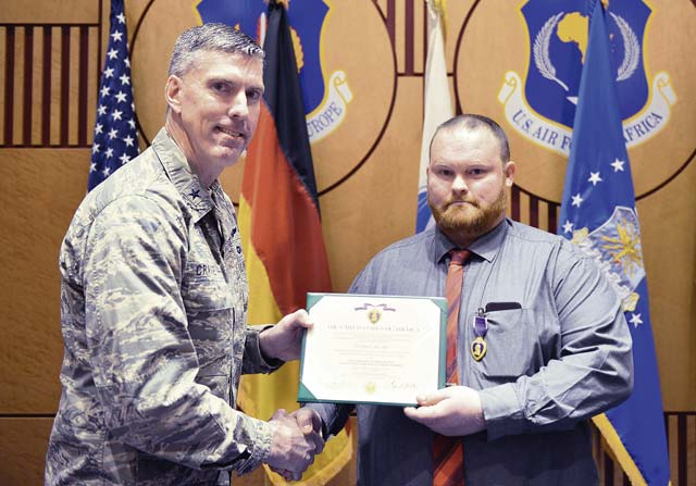 USAFE-AFAFRICA contractor earns Purple Heart