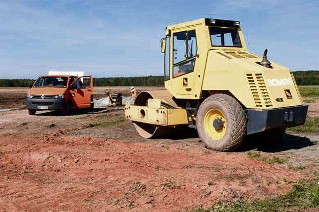 Flightline construction resumes