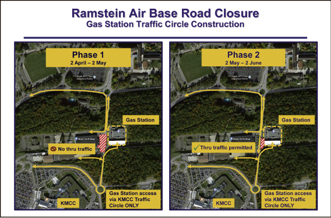 Ramstein Air Base Road Closure