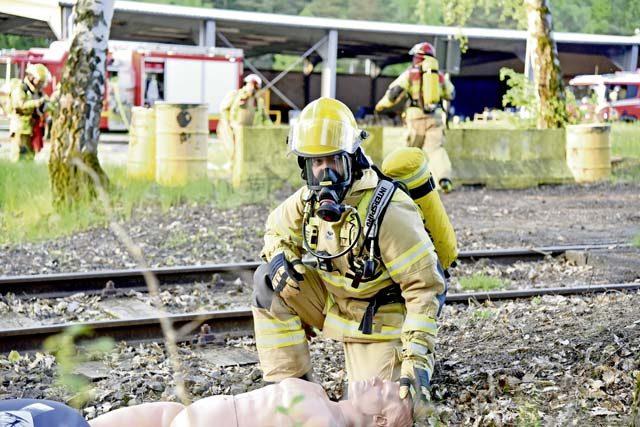 Garrison, Hochspeyer firefighters train for emergencies