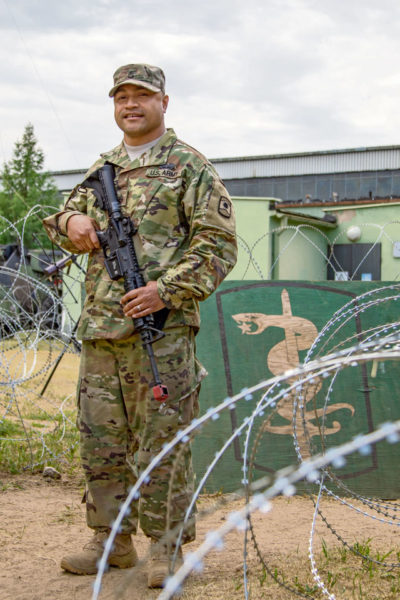 Army Reserve Soldier trains alongside active duty casualty liaison team — Saber Strike 18
